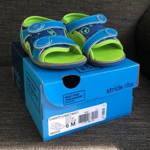 Stride Rite Everett cobalt multi boys sandals sz 6